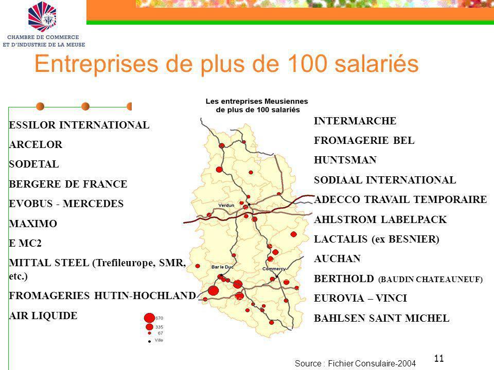 Entreprises de plus de 100 salariés