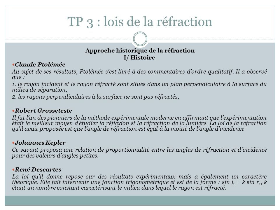 TP 3 : lois de la réfraction