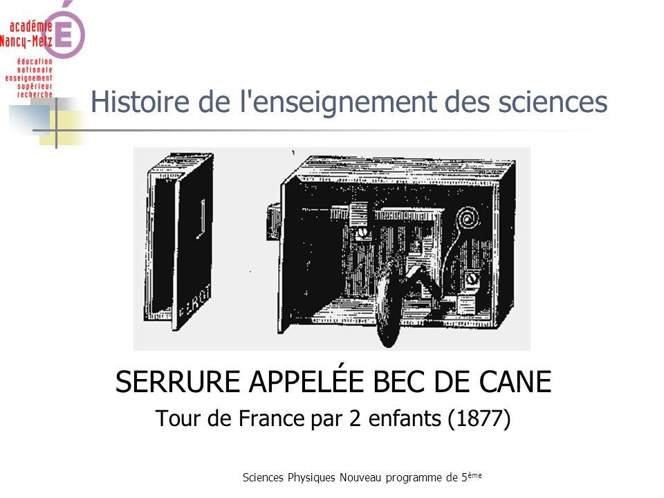 Histoire de l enseignement des sciences