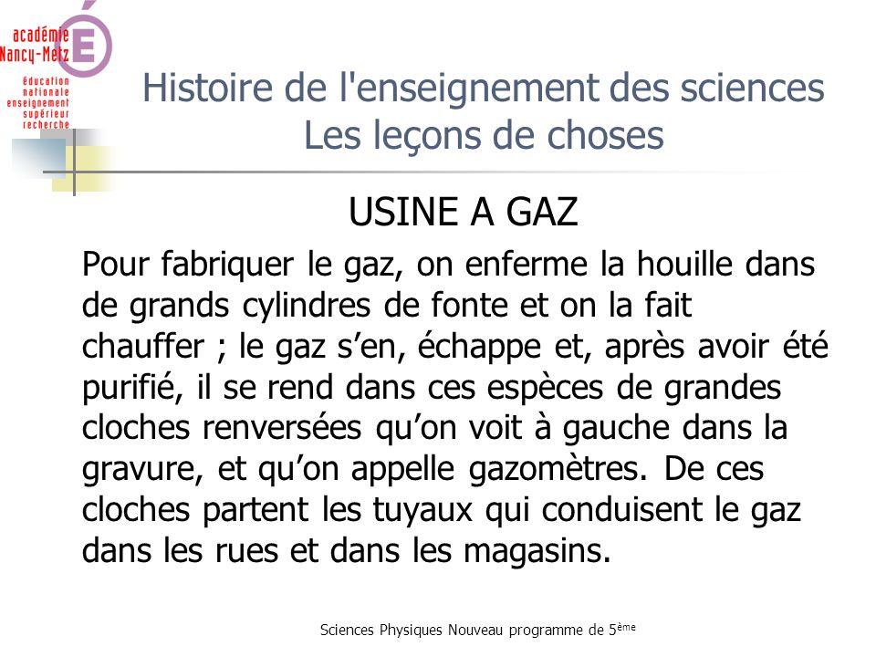 Histoire de l enseignement des sciences Les leçons de choses