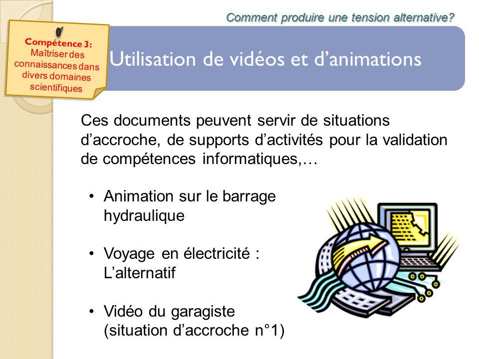 Utilisation de vidéos et d'animations