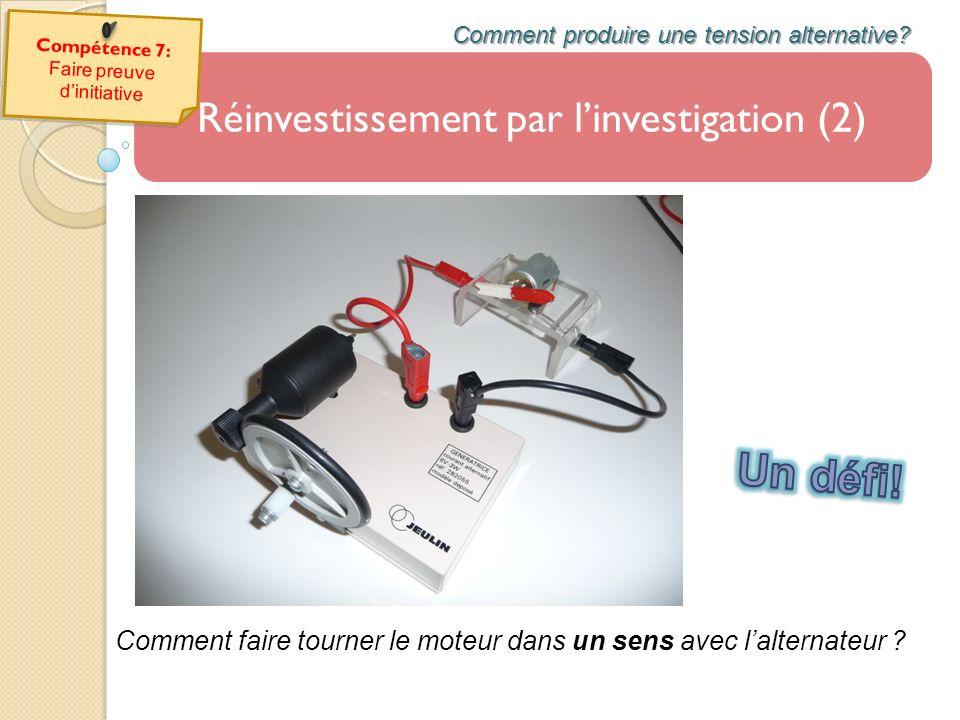 Un défi! Réinvestissement par l'investigation (2)