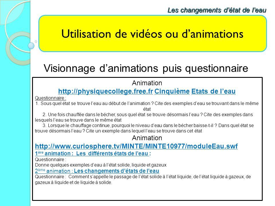 Utilisation de vidéos ou d'animations