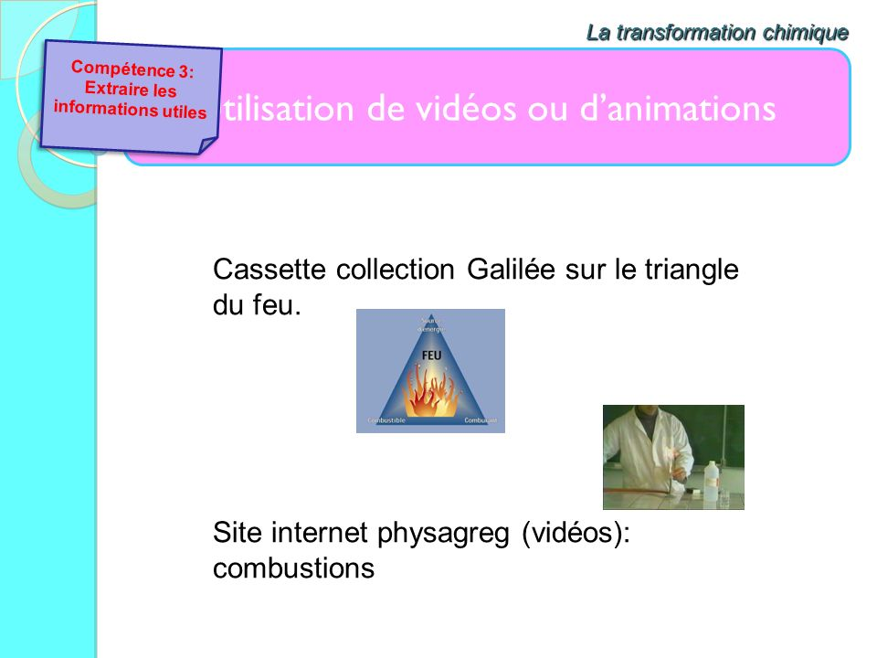 Extraire les informations utiles