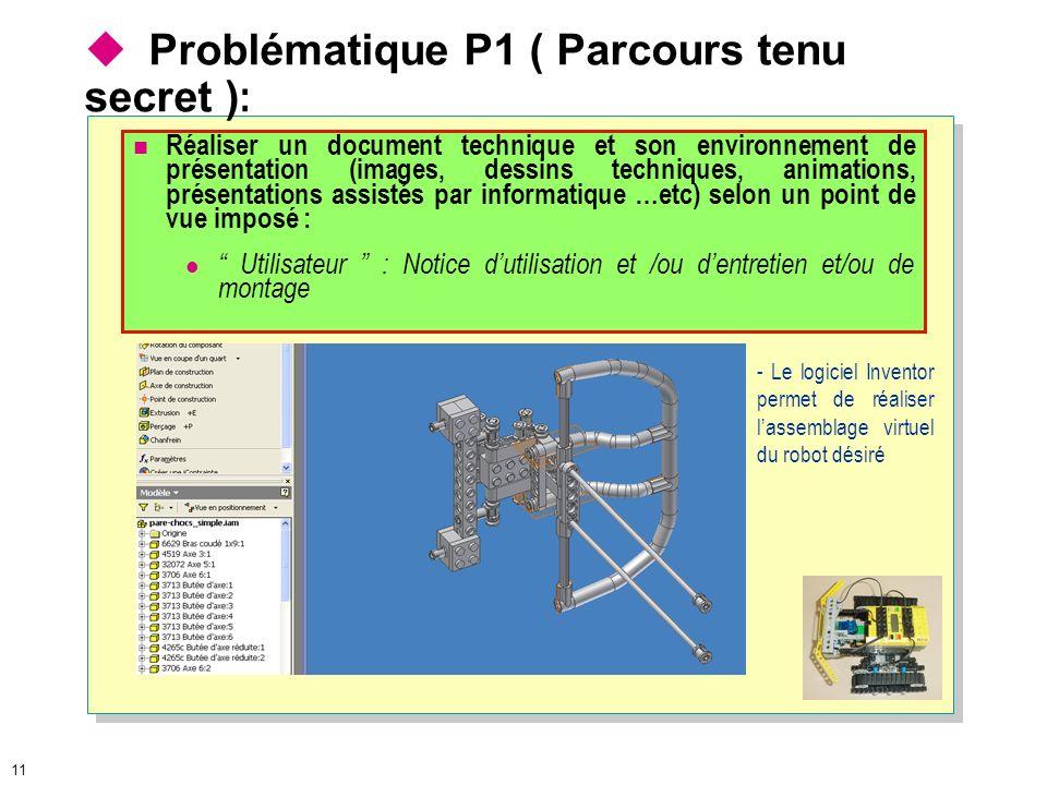 Problématique P1 ( Parcours tenu secret ):