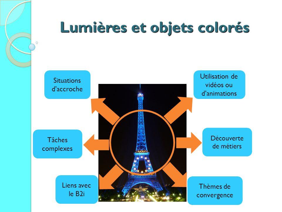 Lumières et objets colorés
