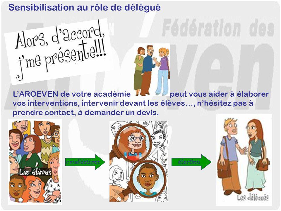 Sensibilisation au rôle de délégué
