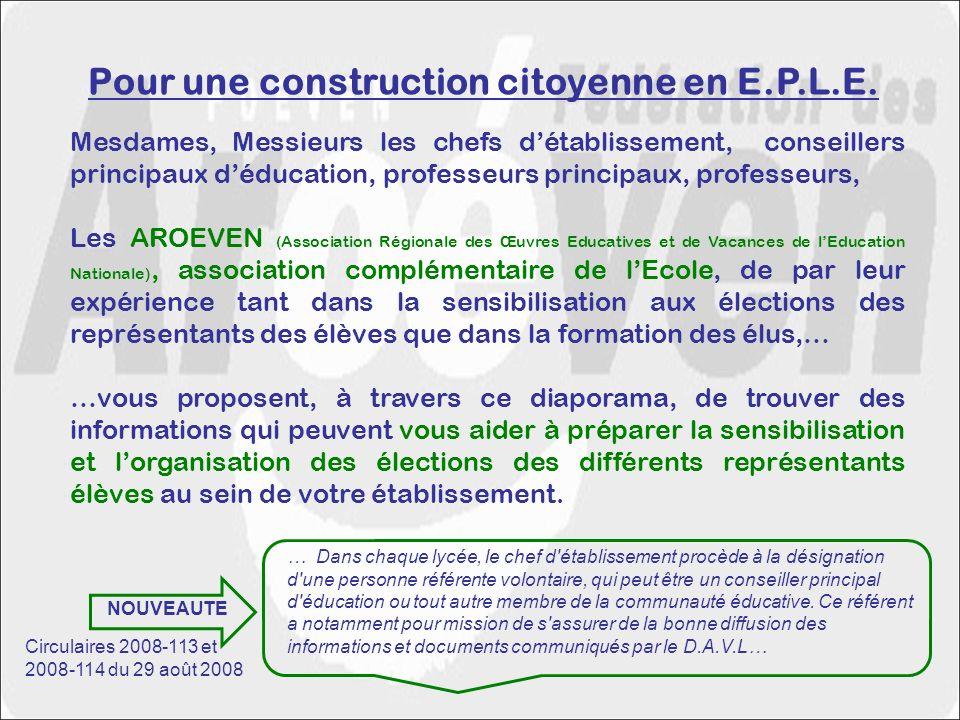 Pour une construction citoyenne en E.P.L.E.