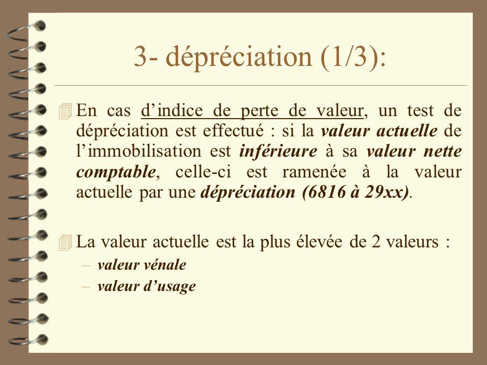 3- dépréciation (1/3):