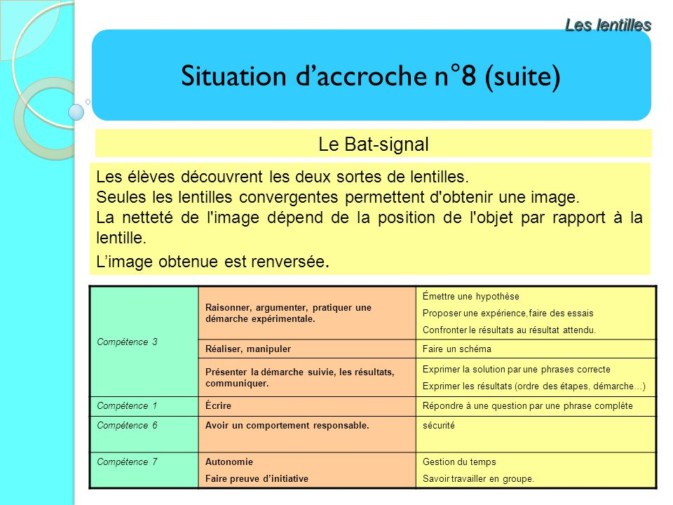 Situation d'accroche n°8 (suite)