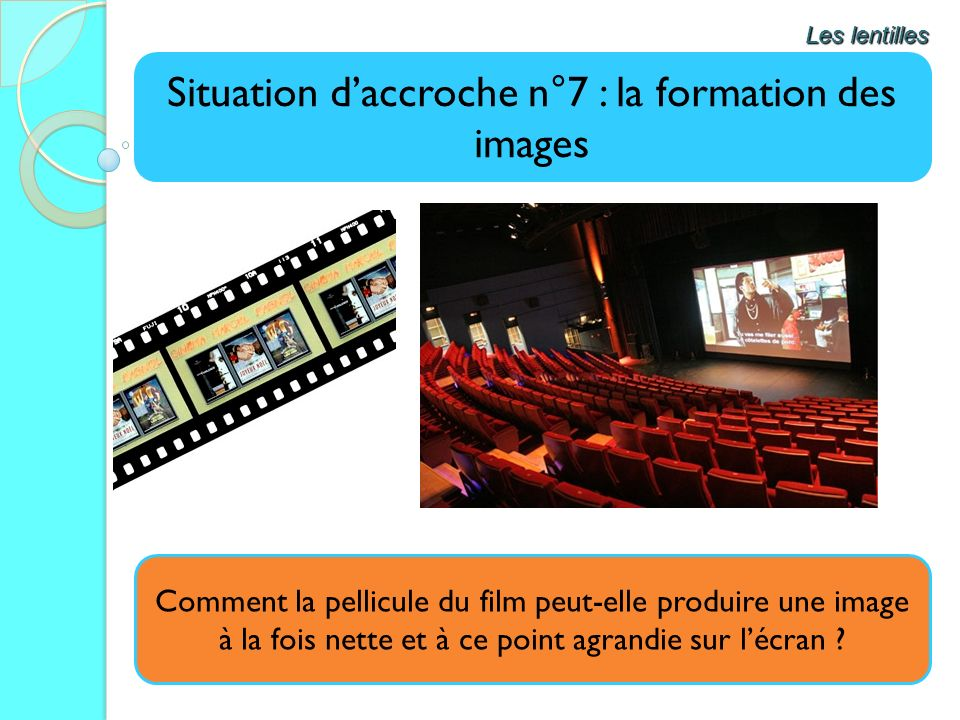 Situation d'accroche n°7 : la formation des images