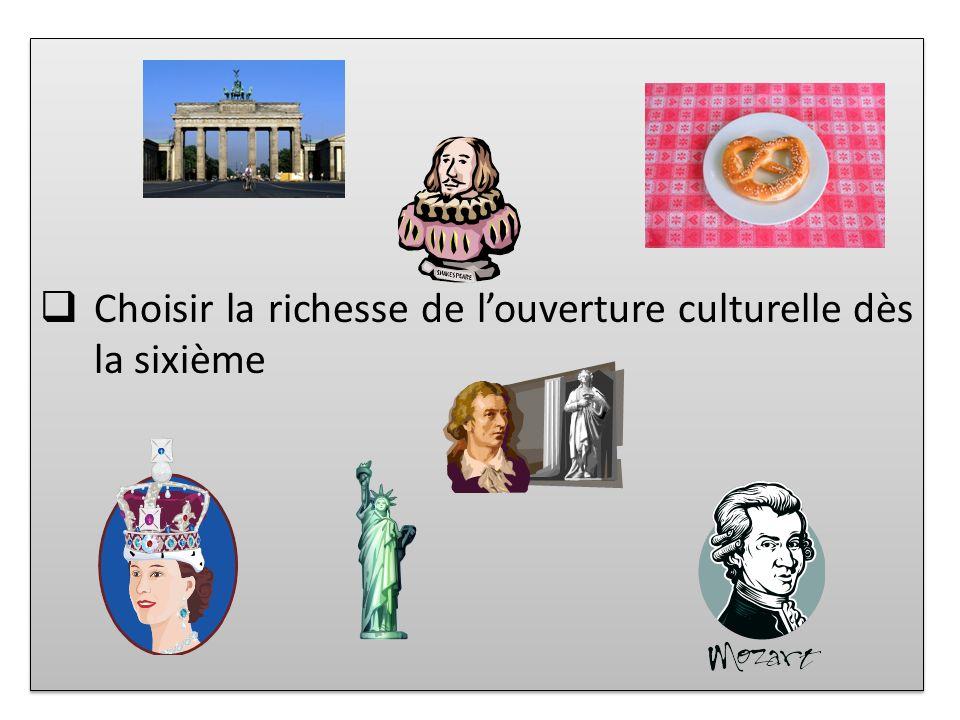 Choisir la richesse de l'ouverture culturelle dès la sixième