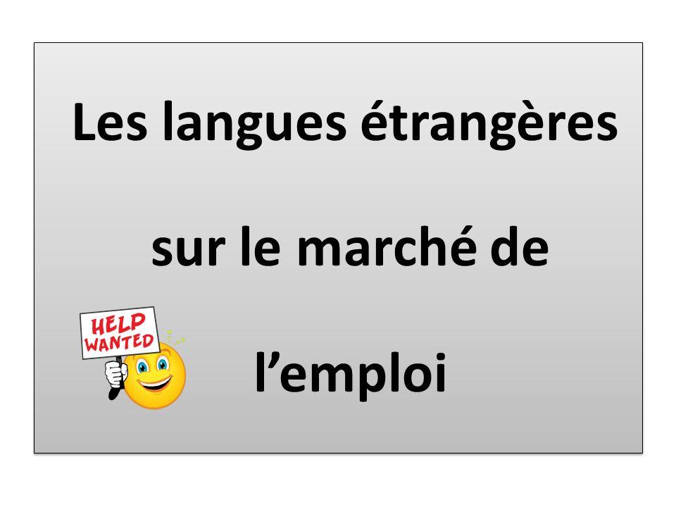 Les langues étrangères sur le marché de l'emploi