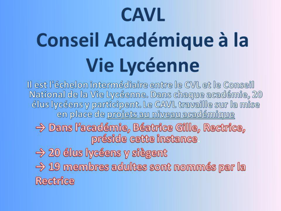 Conseil Académique à la Vie Lycéenne