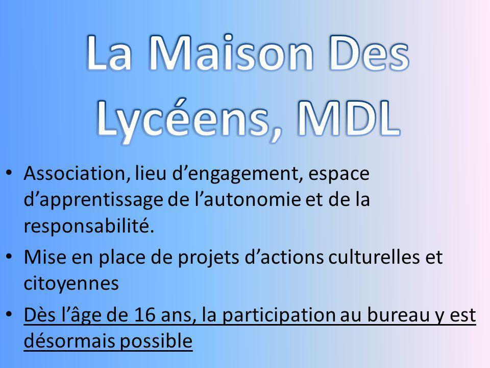 La Maison Des Lycéens, MDL