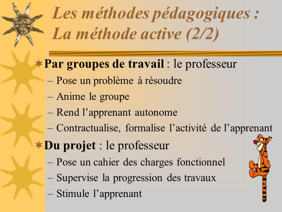 Les méthodes pédagogiques : La méthode active (2/2)