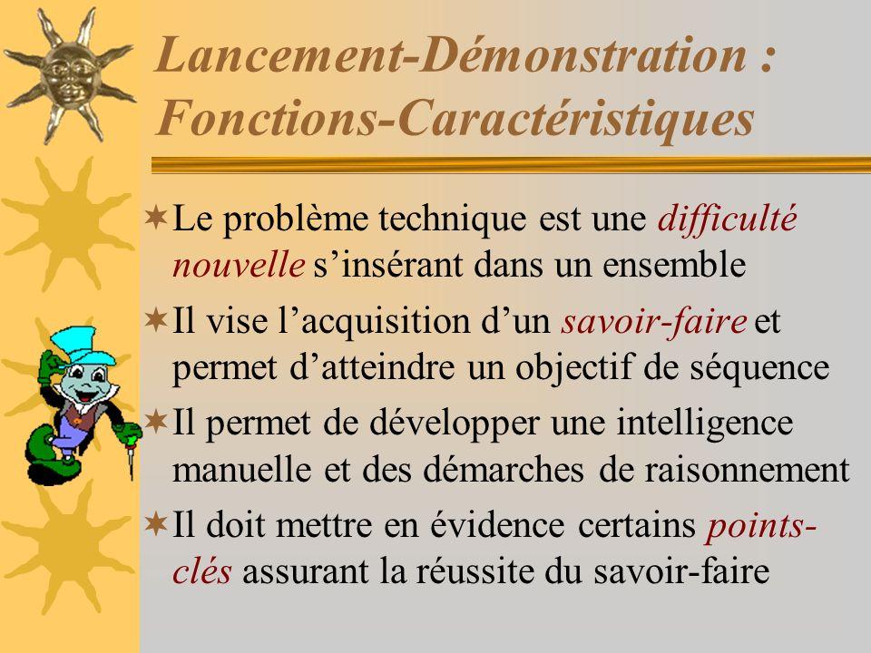 Lancement-Démonstration : Fonctions-Caractéristiques