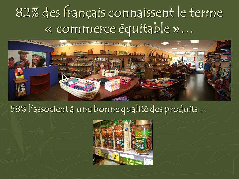82% des français connaissent le terme « commerce équitable »…