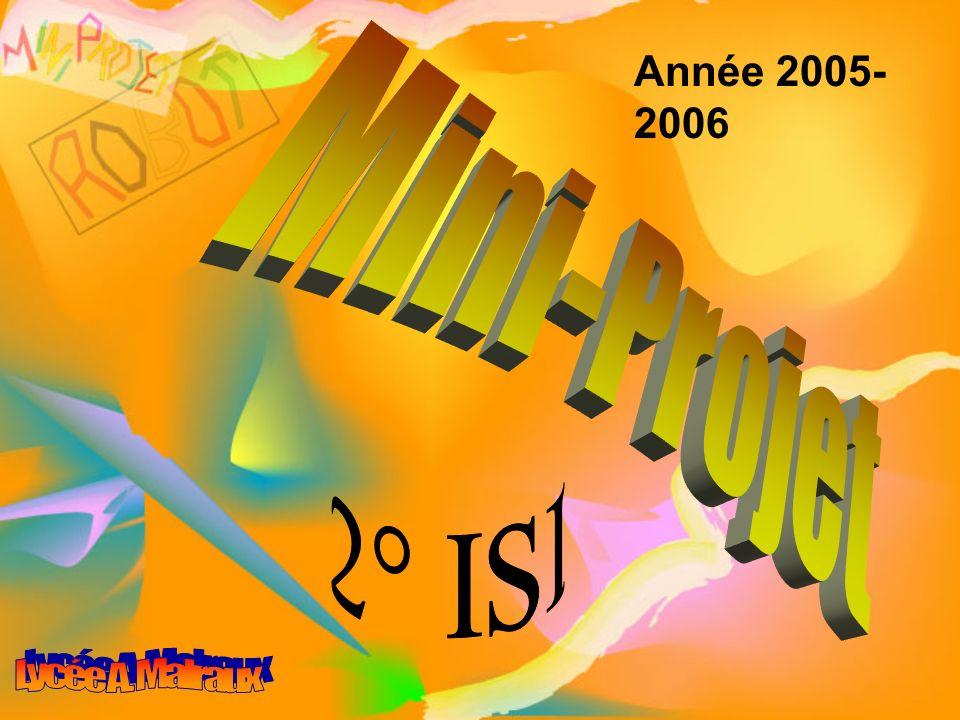 Année 2005-2006 Mini-Projet 2° ISI Lycée A. Malraux