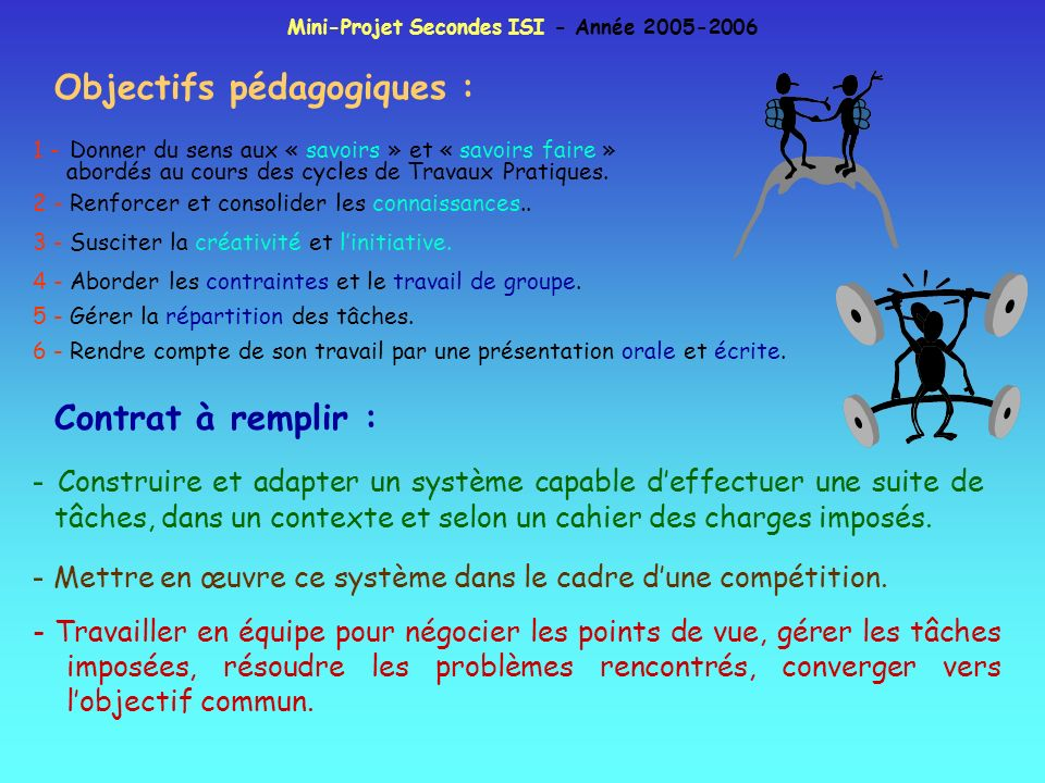 Mini-Projet Secondes ISI - Année 2005-2006