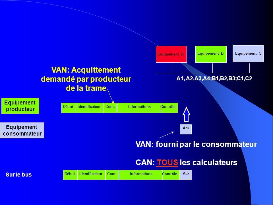 VAN: Acquittement demandé par producteur de la trame