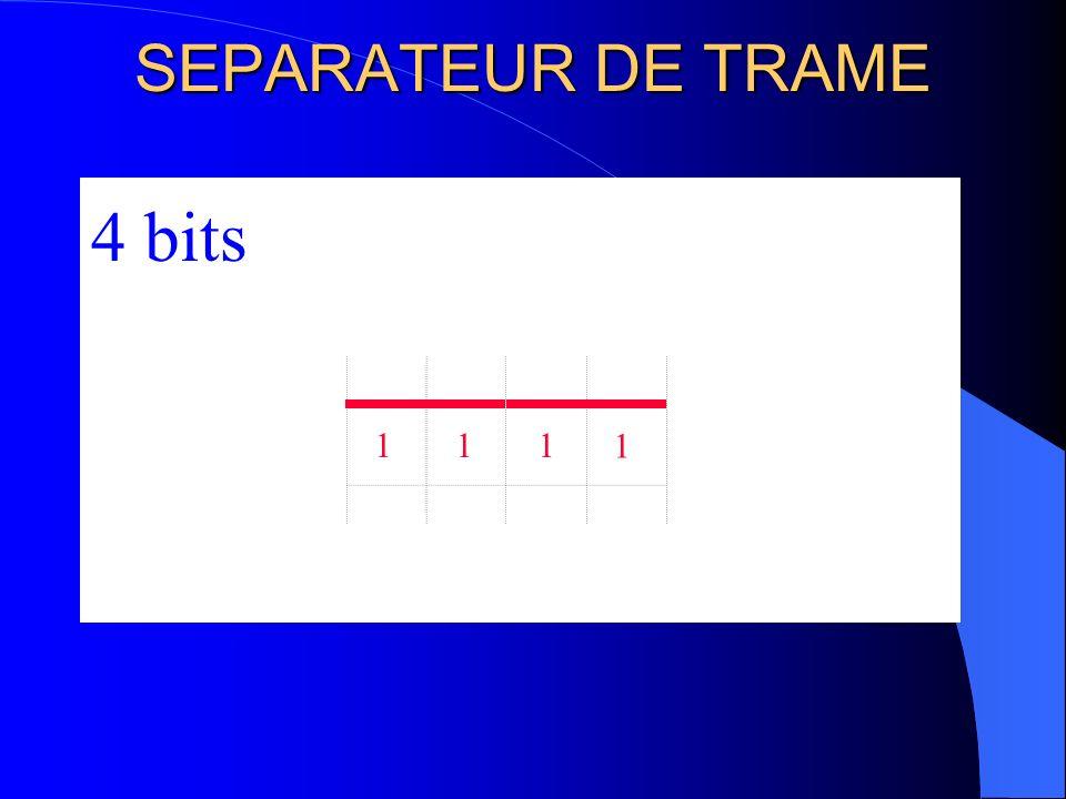 SEPARATEUR DE TRAME 4 bits 1 1 1 1