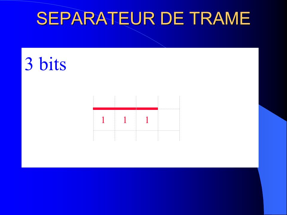 SEPARATEUR DE TRAME 3 bits 1 1 1