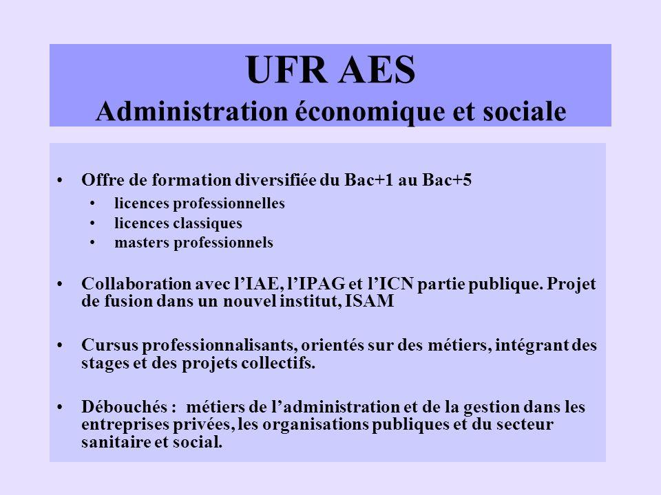 UFR AES Administration économique et sociale