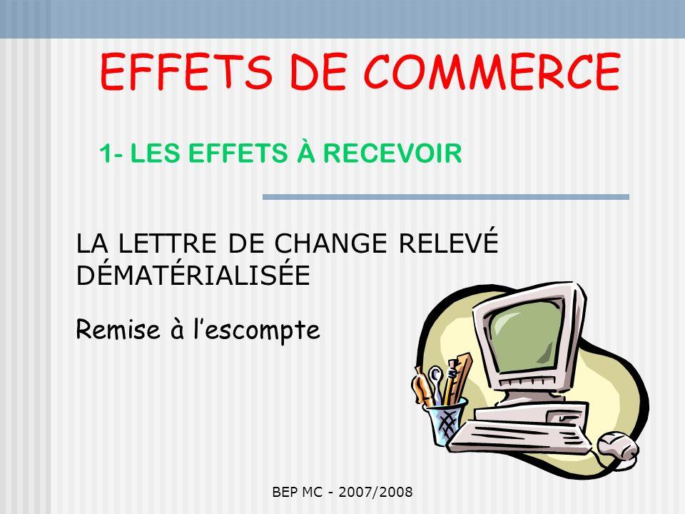 EFFETS DE COMMERCE 1- LES EFFETS À RECEVOIR