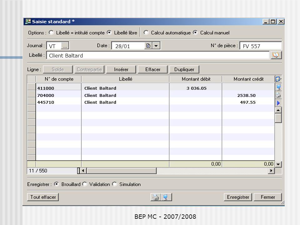 BEP MC - 2007/2008 VT 28/01 FV 557 Client Baltard