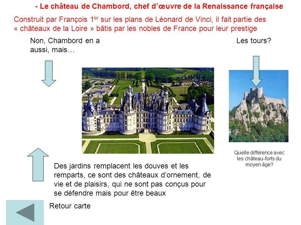 Quelle différence avec les château-forts du moyen âge