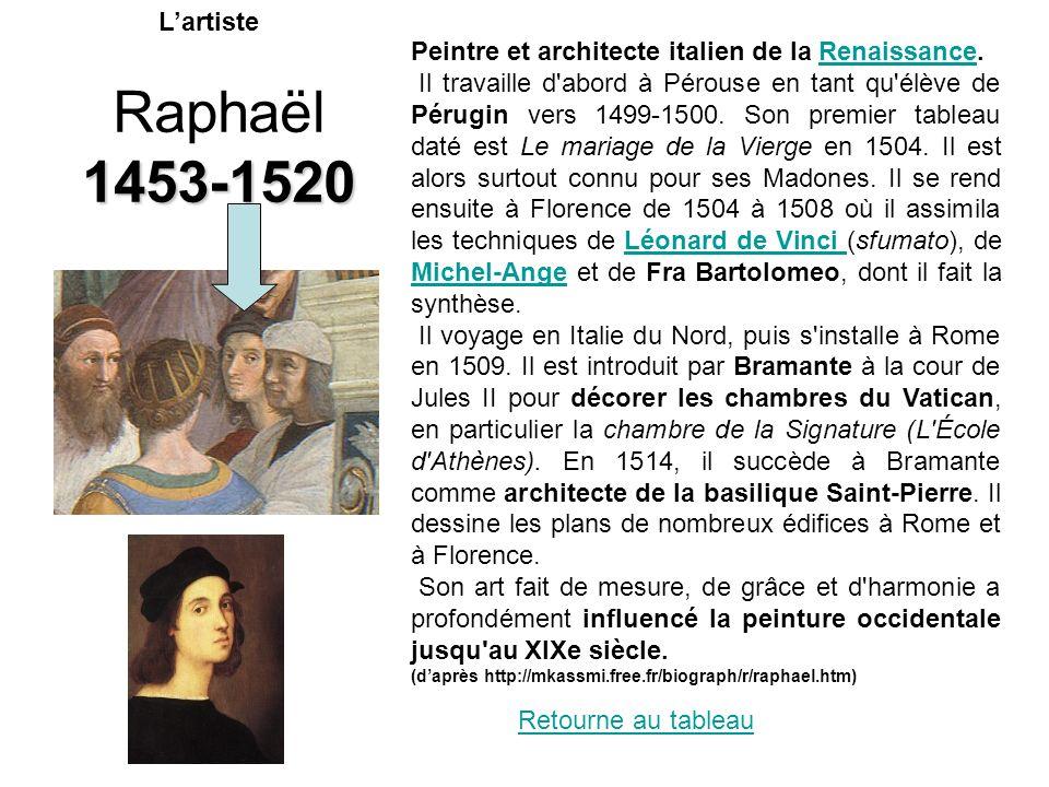 L'artiste Peintre et architecte italien de la Renaissance.