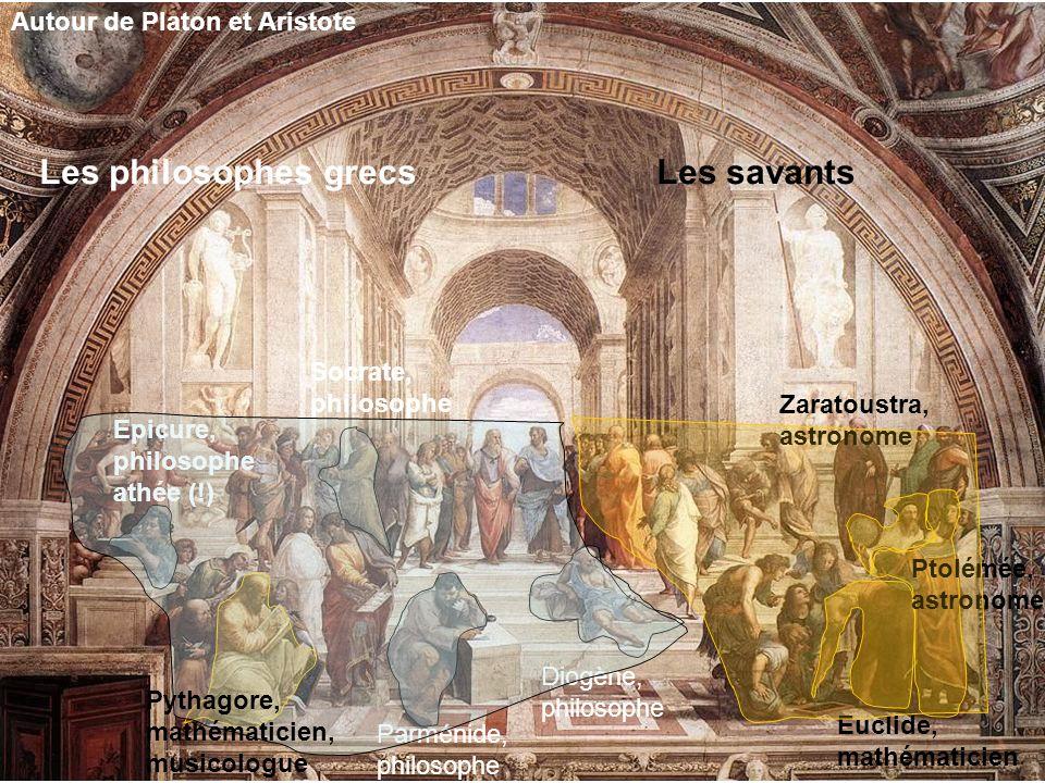 Les philosophes grecs Les savants Autour de Platon et Aristote