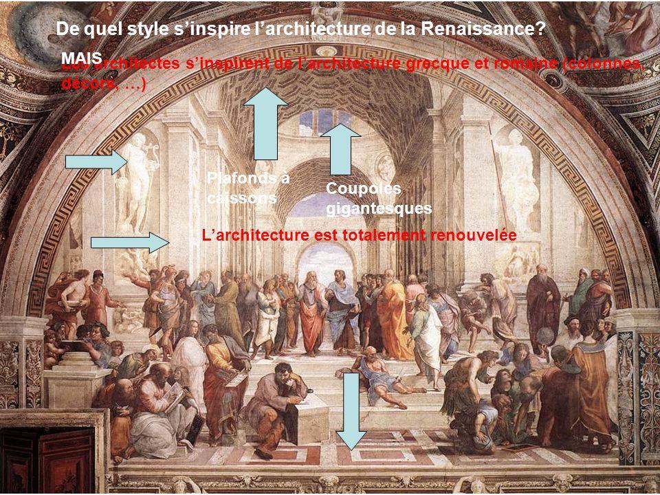 De quel style s'inspire l'architecture de la Renaissance