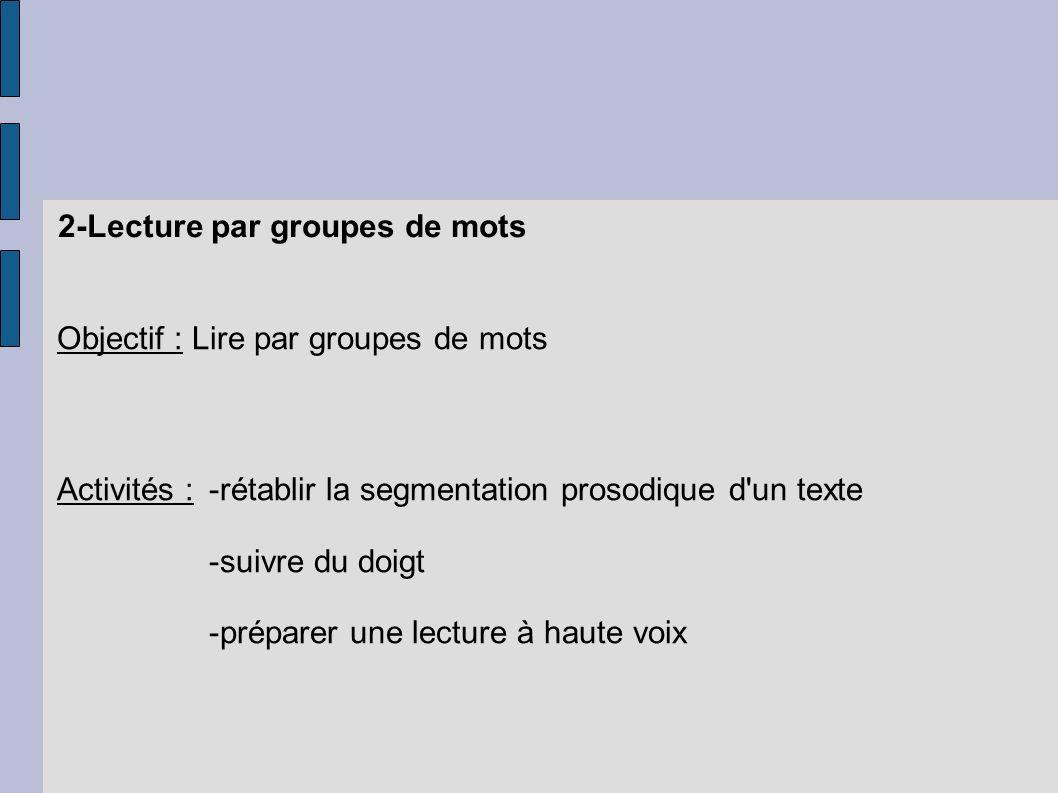2-Lecture par groupes de mots