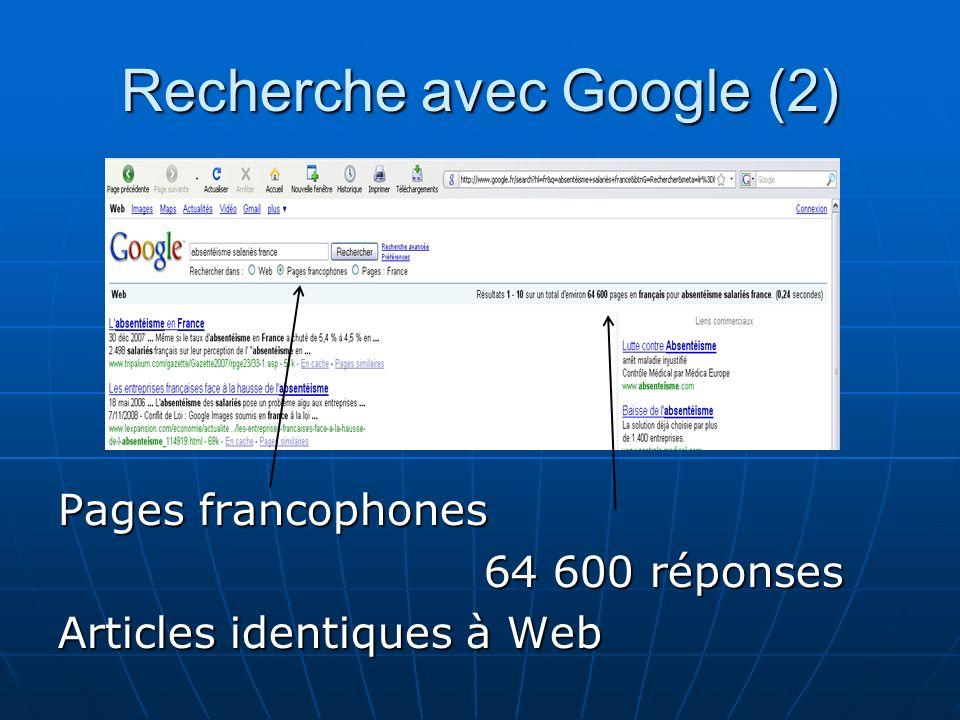Recherche avec Google (2)