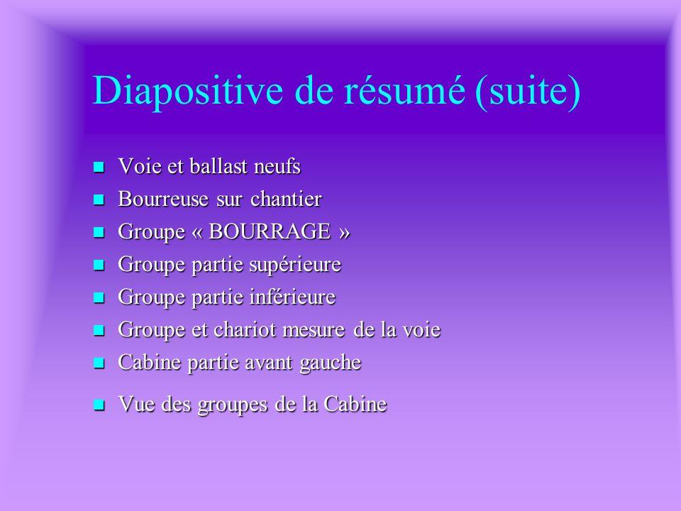 Diapositive de résumé (suite)