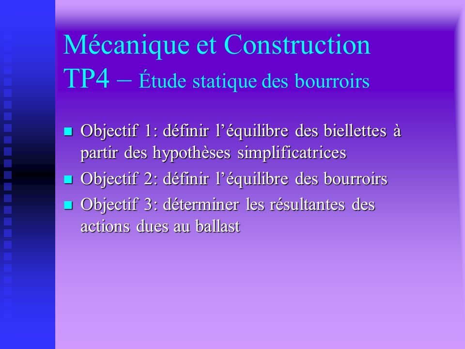 Mécanique et Construction TP4 – Étude statique des bourroirs