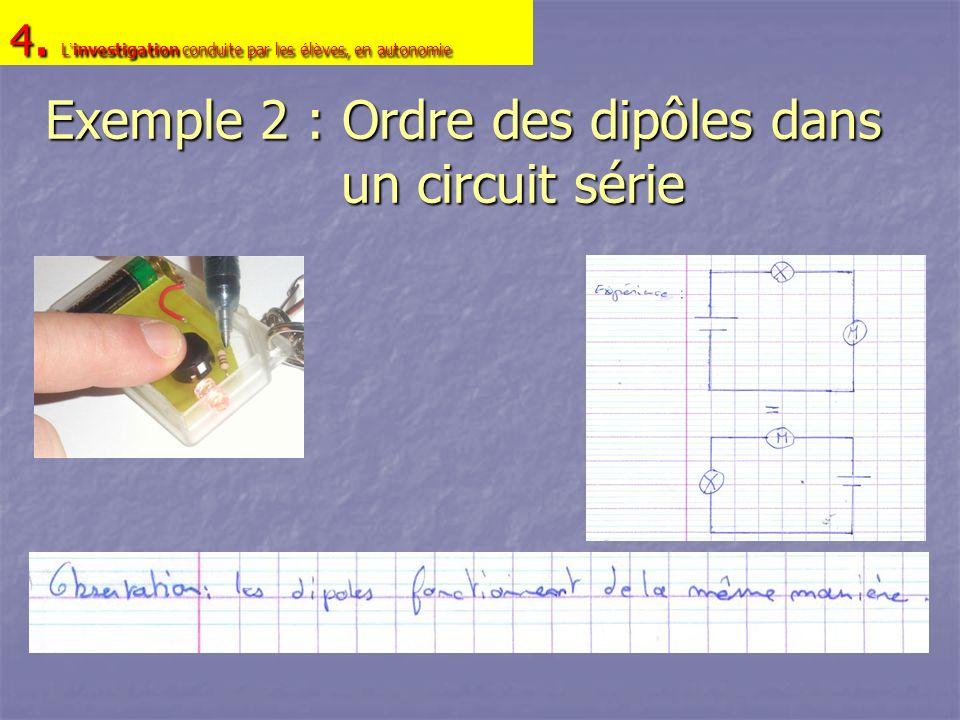 Exemple 2 : Ordre des dipôles dans un circuit série