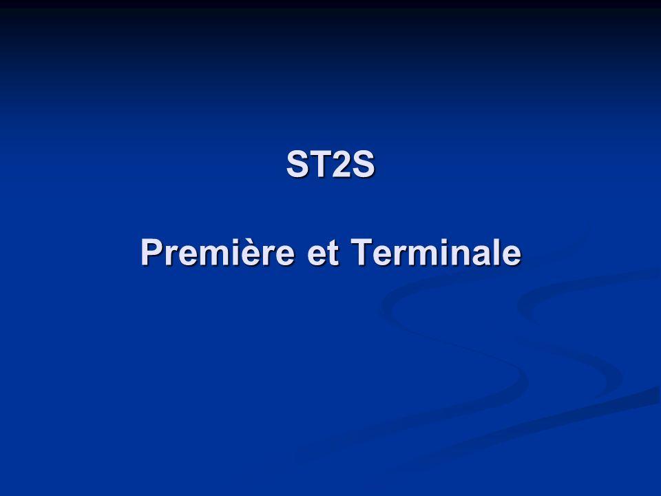 ST2S Première et Terminale