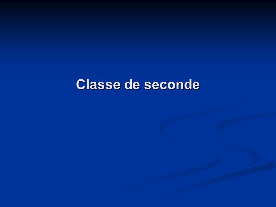 Classe de seconde