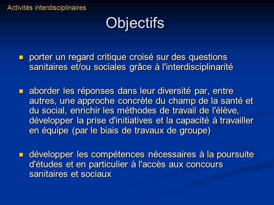 Activités interdisciplinaires
