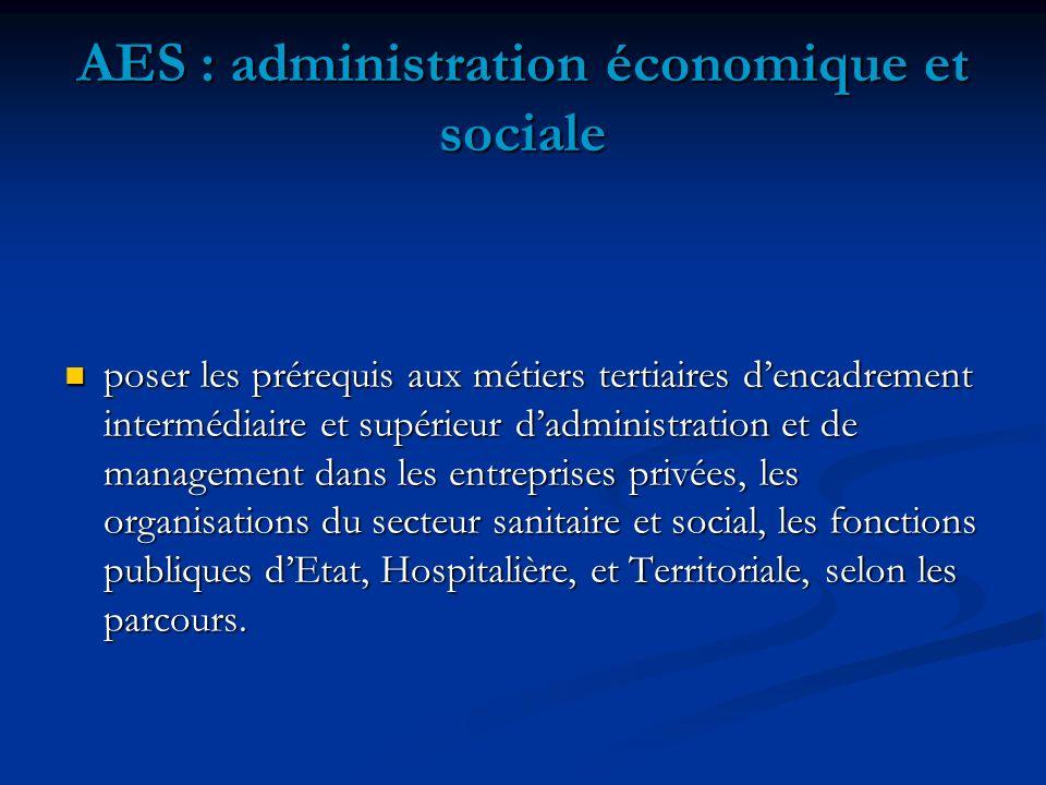 AES : administration économique et sociale