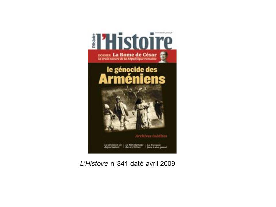 L Histoire n°341 daté avril 2009