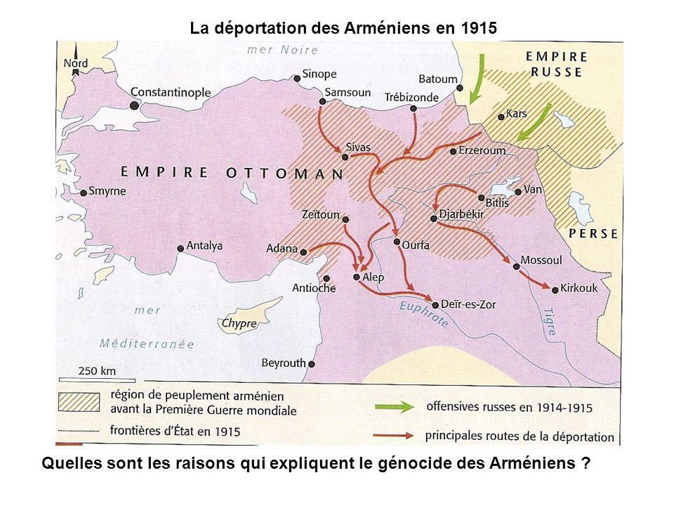 La déportation des Arméniens en 1915