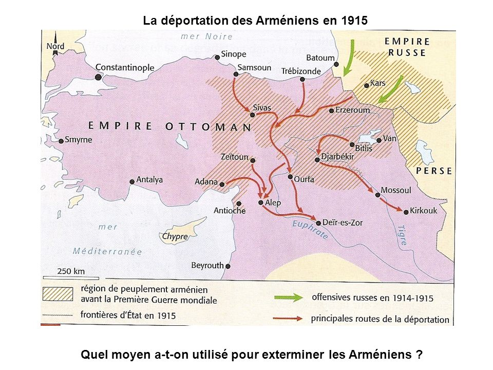 Quel moyen a-t-on utilisé pour exterminer les Arméniens