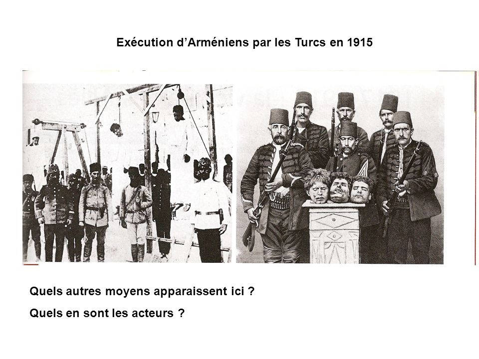 Exécution d'Arméniens par les Turcs en 1915