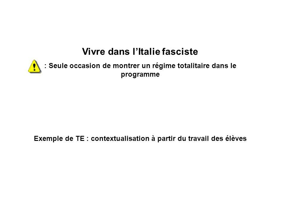 Vivre dans l'Italie fasciste