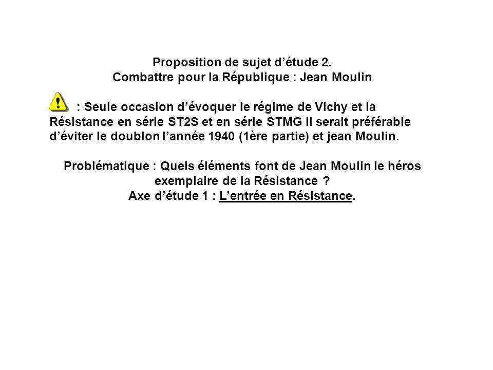 Proposition de sujet d'étude 2.