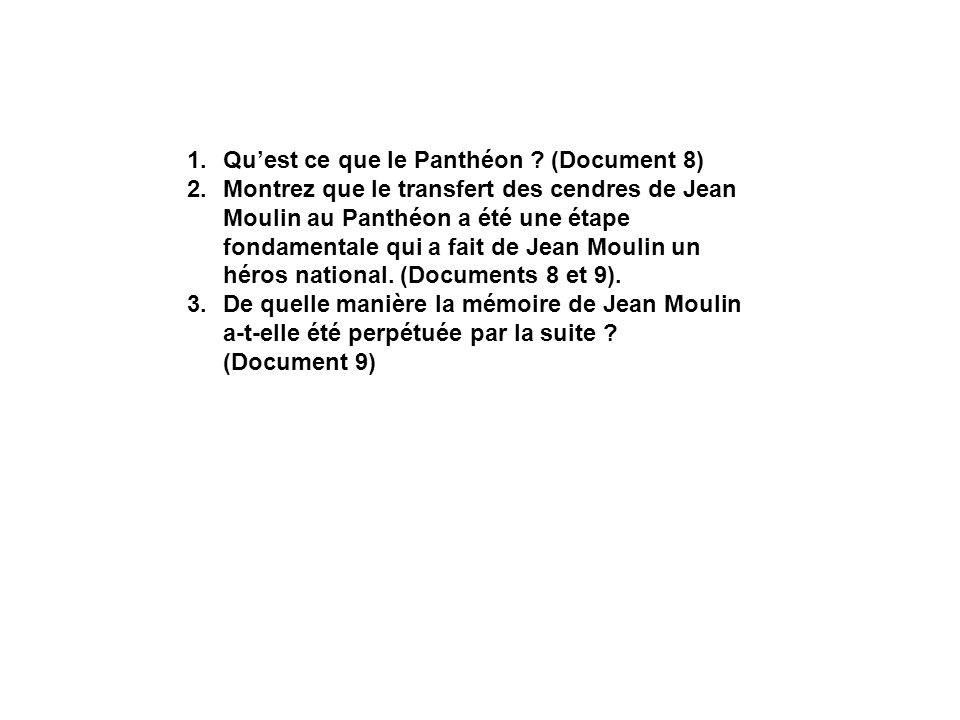 Qu'est ce que le Panthéon (Document 8)